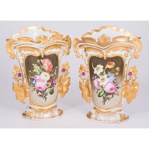 Paris Porcelain Painted Vases