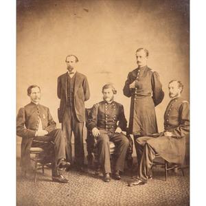 Civil War Albumen Photograph of Major General John G. Parke and Staff, Incl. Lt. Colonel James Lyman Van Buren