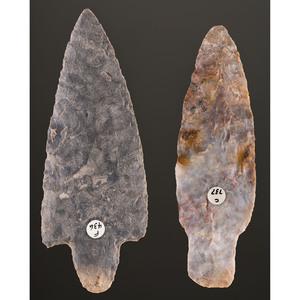 A Pair of Adena Blades, Longest 5 in.