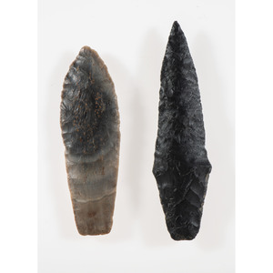 A Pair of Paleo Lances, Longest 4 in.