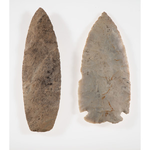 A Pair of Large Archaic Blades, Longest 5-1.2 in.