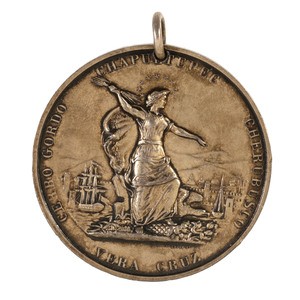 New York City Silver Mexican War Medal Awarded to C. Lawrence Strobill, Wounded at Chapultepec