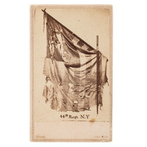 CDV of the Battle Flag of the 44th New York Infantry,