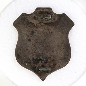 Silver ID Pin of Sergeant Lyman Wolcott, 108th New York Infantry