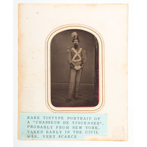 Ambrotype and Tintype of Soldiers in Distinctive Uniforms