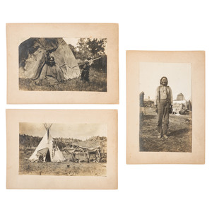Cheyenne Indian Camp Life, Six Photographs by Julia Tuell, Incl. View of Chief Two Moons, Leader Involved in Custer's Massacre