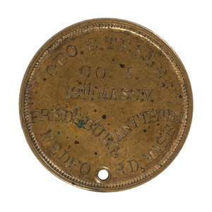 McClellan-Style ID Disc of George Teele, Co. I, 19th Massachusetts Infantry