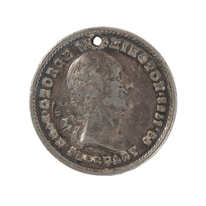 Washington-Style Cavalry ID Disc of Milton W. Paine, Co. L, 11th New York, Plus Sutler Currency