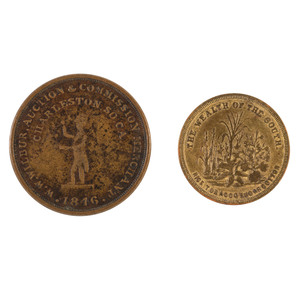 Pair of Charleston Tokens,