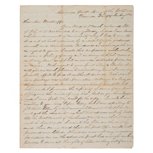 Battle of Manassas Confederate Letter, Private Isom Lee, Co. A, 2nd South Carolina Infantry, 1861