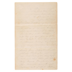 Expository Antietam Battle Letter, Written by Sergeant Frank M. Kelly, Co. H, 44th New York Infantry, 1862
