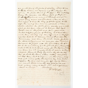 Civil War Letter Written by Captain William D. Dixon, 35th Pennsylvania Infantry, with Detailed Battle of Dranesville Content, 1861