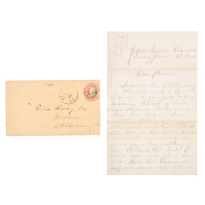 Civil War Letter of John G. Rowley, 7th Connecticut Infantry, Vivid Account of the Battle of Secessionville, South Carolina, 1862