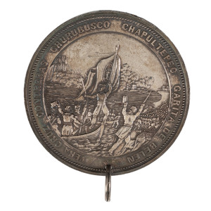 Silver Palmetto Medal Awarded to Sergeant Thomas Beggs for Service in the Mexican-American War, 1848