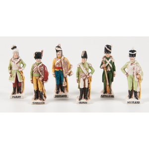 German Capodimonte Porcelain French Military Figures