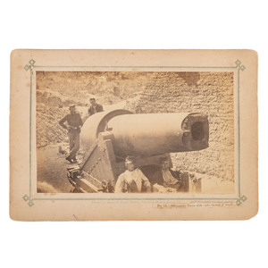 Photograph of a 300-Pound Parrott Rifle, Morris Island, 1863, By Haas & Peale