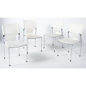 Contemporary Chrome and Leather Chairs