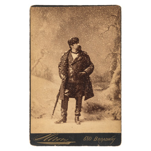 Napoleon Sarony Cabinet Card, Previously Unknown Self Portrait