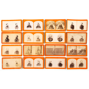 Taylor & Huntington, Collection of 28 Stereoviews of Union Generals, Officers, and More