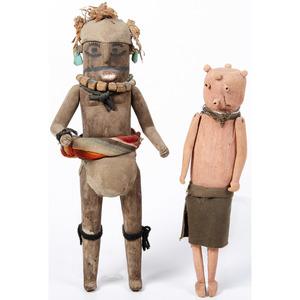 Hopi Koyemsi Katsina AND Zuni Koshari, From The Harriet and Seymour Koenig Collection, New York