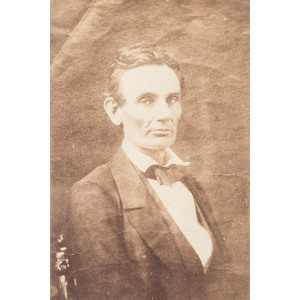 Cabinet Card Portrait of Lincoln by Samuel Fassett, Published by Hesler