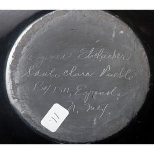 Virginia Ebelacker (Santa Clara, 1925-2001) Blackware Pottery Jar, with Bear Paws, Property of the National Museum of Women in the Arts, Washington, D.C.