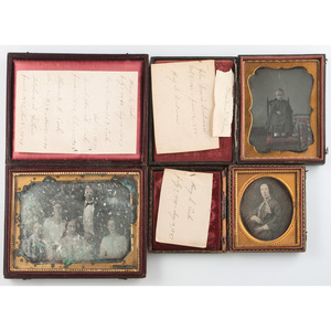 Photographic Archive of the Wilson and Peck Families, Including J.P. Ball Daguerreotype, Lot of 10