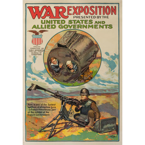 World War I Poster, War Exposition, By Otis Lithograph Co.