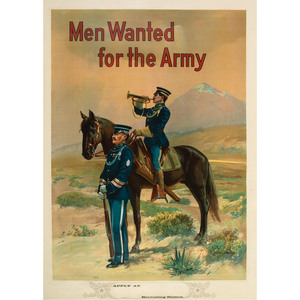 Men Wanted for the Army, World War I Recruitment Poster