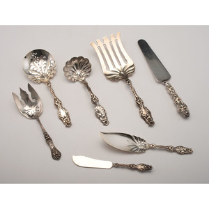 Whiting Lily Sterling Serving Pieces, Plus