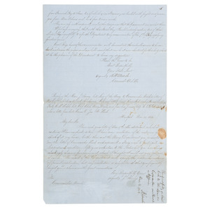 Abraham Lincoln, Autograph Endorsement Signed on Letter of Richard W. Meade Concerning the Naval Seniority System