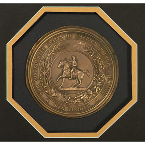 The Great Seal of the Confederacy, Ca 1872