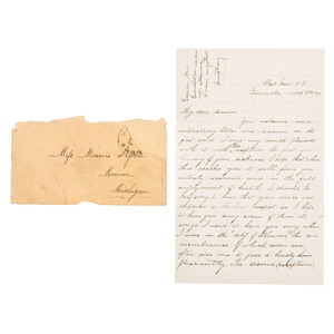 George A. Custer Autograph Letter Signed from West Point, February 1859