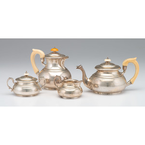 Edward Barnard & Sons Sterling Tea Service