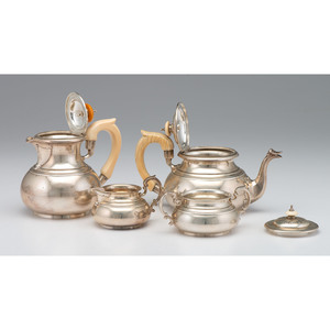 Edward Barnard & Sons Sterling Tea Service