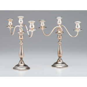 Ellmore Silver Co. Weighted Sterling Candelabra