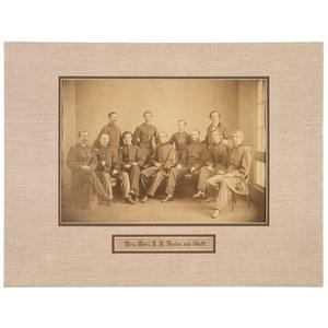 Brigadier General Joseph A. Haskin and Staff, Albumen Photograph