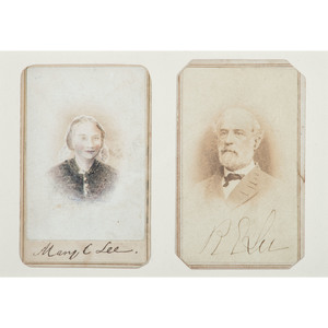 Robert E. Lee and Mary Custis Lee, Signed CDVs