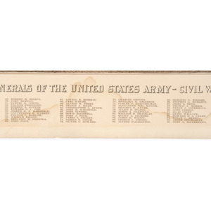 Kurz & Allison Lithograph, Full Rank - Major Generals of the United States Army - Civil War
