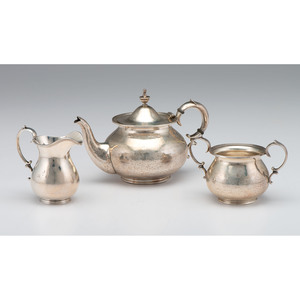 American Sterling Three-Piece Tea Set