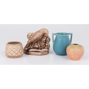 Rookwood Pottery Vases and Bookend