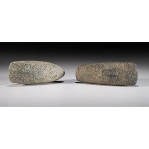 A Pair of Granite Celts, Longest 7-1/8 in.