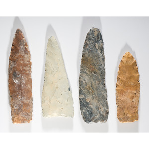 A Group of Large Archaic Blades, Longest 7 in.