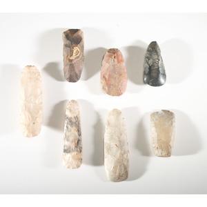 A Collection of Flint Celts, Longest 5-1/4 in.