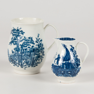 Worcester Blue and White Mug and Creamer