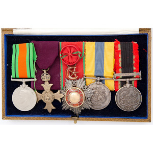 Set of British Medals in Original Case attributed to George Ronald Storrar