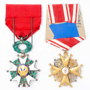 French Legion of Honor Medal and Polish Order of Stanislaus Medal