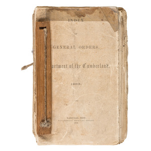 Civil War Bound Volume of Union General Orders, Department of the Cumberland, 1863-1864