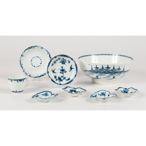 Worcester Dr. Wall Period Blue and White Porcelain