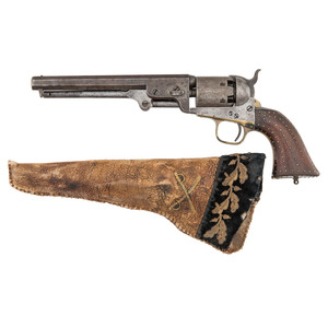 Colt Model 1851 Navy Revolver with Attractive Contemporary Holster